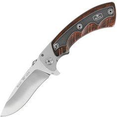 Open Season Skinner Knife, w/ Rosewood Dymonwood Handle » Folding Hunting Knives w/Black Leather Sheath » Haviland Outdoor Supplies