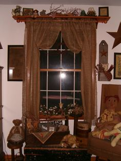 primitive window treatments | and quilts - window treatments - kims kountry kreations primitive ...