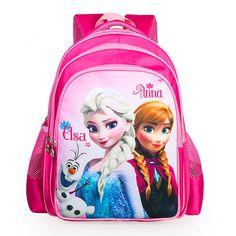 2016 Snow Queen Anna Elsa Hans girls schoolbag 3D cartoon beatiful lovely…