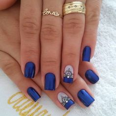 20 - 2019 - 2020 Blue and Light Blue most beautiful nail designs with different designs - 1 period blue and light blue nail designs. Light Blue Nail Designs, Light Blue Nails, Nail Art Designs, Nails Design, Beautiful Nail Designs, Bling Nails, Winter Nails, Manicure And Pedicure, Toe Nails