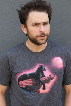 Majestic Panther T-Shirt (As modeled by Charlie from Always Sunny in Philadelphia) LOVE HIMMM!