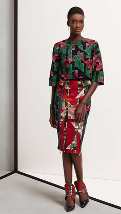 """Dutch fabric house Vlisco released look book images for their new textile collection called """"Think."""" According to the company, the fabrics. African Fashion Designers, African Inspired Fashion, African Print Fashion, Africa Fashion, Fashion Prints, African Prints, African Dresses For Women, African Attire, African Wear"""
