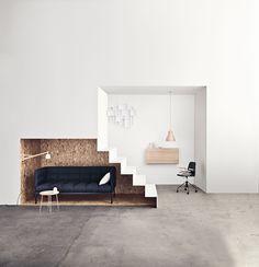 Aura sofaen er så elegant, enkel og let, at den næsten svæver. Dens runde og luftige udseende er så delikat at sidde i, at den næsten føles som en sky. Den tynde metalramme giver en skarp kontrast – og hjælper med at holde den nede på jorden.