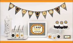 Eat Drink & Be Scary Halloween Decor Kit