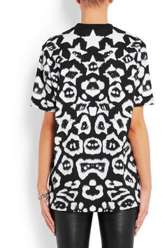 Givenchy - T-shirt In Printed Cotton-jersey - Black - x small