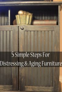 5 Simple steps for distressing and antiquing furniture. This lays it all out for you.