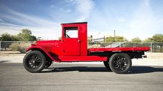 1928 #Chevrolet One Ton Flat Bed Truck 171/22 HP, 3-Speed presented as lot S5. #Mecum #RogersCCMuseum