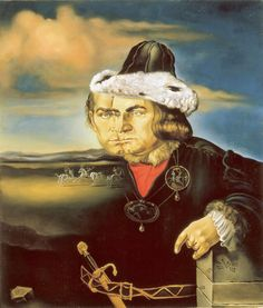 "Salvador Dali ~ ""Portrait of Laurence Olivier in the Role of Richard III"", 1955"