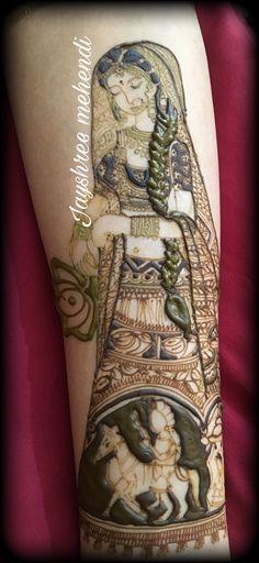 Bride in mehndi Stylish Mehndi Designs, Wedding Mehndi Designs, Dulhan Mehndi Designs, Arabic Mehndi Designs, Latest Mehndi Designs, Mehandi Designs, Beginner Henna Designs, Henna Designs Easy, Modern Henna