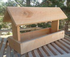 Cedar wood bird feeder by lilhoneysshoppe on Etsy, $15.00