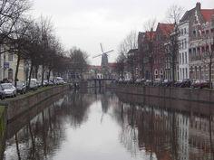 canal in schiedam, holland