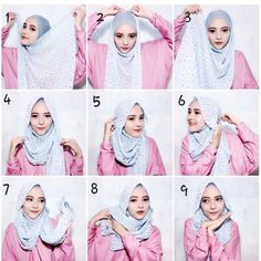 Beautiful Hijab look with a great coverage using a simple maxi scarf, this style looks loose but in fact it is well wrapped and covering everything, keepreading for the step by step explanation. 1. Take your scarf from its width…