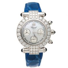 View this item and discover similar for sale at - Circa 2011 White Gold and Diamond Chopard Imperiale Chronograph Wrist Watch, 32 M. Fine Watches, Cool Watches, Watches For Men, Unique Watches, Ladies Watches, Women's Watches, Wrist Watches, Stylish Watches, Luxury Watches