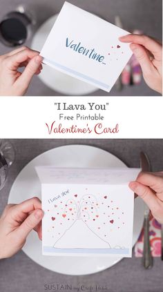 """Inside Out short movie-inspired free printable Valentine's Day card """"I Lava You"""". A thoughtful card for an Anniversary or """"just because"""" as well. Click through to pick up the download. - SustainMyCraftHabit"""