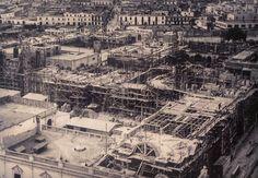 La construcción del Palacio de Gobierno - Plaza de Armas de Lima.