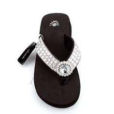 784130156 Premium Western Rhinestone Sliver Concho BlingBling Flip Flops XLarge    Check out this great product.