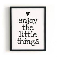 Genieten van de kleine dingen!