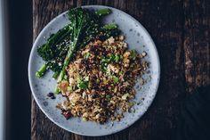 Kiinalainen paistettu riisi (V, GF) – Viimeistä murua myöten Tofu, Risotto, Ethnic Recipes