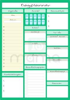 Dagplanner Groen Bullet Journal Notes, Daily Journal, Planner Organization, Financial Planning, Better Life, Bujo, Life Hacks, How To Plan, Motivation