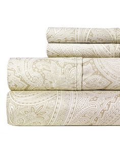 Pebble Paisley 400-Thread Count Sheet Set by Aspire Linens #zulily #zulilyfinds