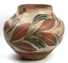 Zia Floral Design Jar C 1900 1915 | eBay