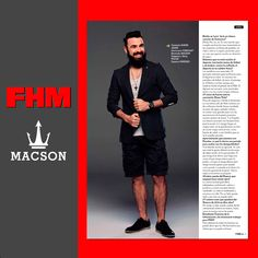 El cantante @Huecco viste bermuda #Macson en una entrevista para el número de junio de FHM. #macson #macsonshop