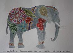 Doodle Elephant Illustrations |
