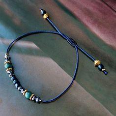 Schmuck Set in schickem Royal blue kombiniert mit Metall DQ gold