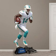 f234bcdcaef Miami Dolphins Fathead Wall Decals   More