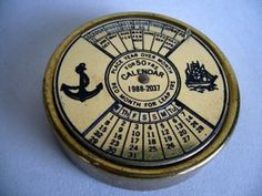 50 Year Brass Perpetual Calender Nautical photo