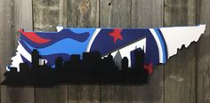 Tennessee Titans with Nashville skyline