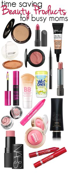 Time saving beauty products for busy moms. What products to use and how to cut your routine completely in half! Get five minute makeup tips! All Things Beauty, Beauty Make Up, Diy Beauty, Beauty Skin, Beauty Hacks, Beauty Stuff, Makeup Dupes, Skin Makeup, Lipstick Dupes