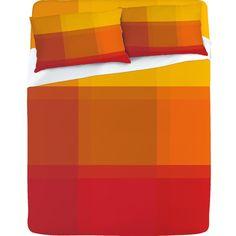 "Deny Designs ""Orange Sherbet"" sheet set"