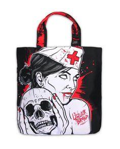 Liquor Brand Tasche/Tote Nurse,Tattoo, Biker, Pin Up, Oldschool,Cutom Styles