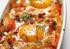 Basque-Style Baked Eggs Recipe  Make this sophisticated egg dish from Alain Ducasse