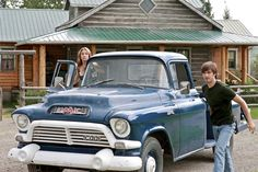 Ty's truck on Heartland Amy And Ty Heartland, Heartland Tv Show, Heartland Seasons, Heartland Ranch, Heartland Episodes, Heartland Quotes, Classic Trucks, Classic Cars, Chevy Classic