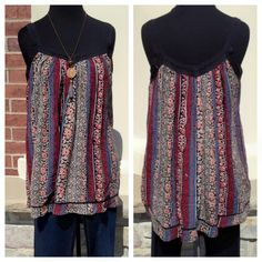 Restock in this beautiful Boho Flowy Print Tank Top! Love the crochet straps!! $44 S-XL #shopmainstream #mainstreamboutique #ootd #style #boutique