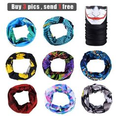Official Website 2019 New Outdoors Seamless Bandana 3d Cycling Face Mask Joker Skull Camouflage Headband Fishing Hiking Scarves Marvel Neck Scarf Apparel Accessories