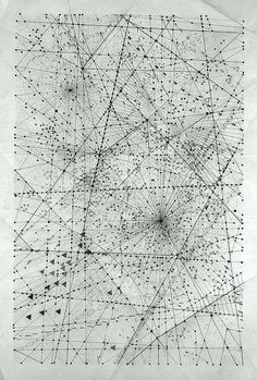 London based artist Emma Mcnally makes abstract graphite drawings that look like city grids and star maps. But this description doesn't come close to doing them justice. Usually large in scale, the drawings emit a wizened, emotive quality. Somehow, each miniscule mark of graph