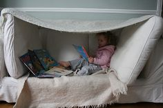 New fort idea! We love making forts in our house!