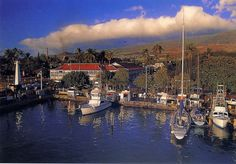Lahaina Harbor Maui - I just plan to sit here with a cup of coffee ,watch the boats sail in and out of the harbor and forget I ever have to go back home. Lahaina Hawaii, Maui Hawaii, Lanai Island, Big Island Hawaii, Maui Travel, Travel Usa, Places To Travel, Places To Go, Kauai Coffee