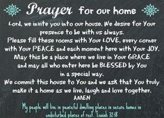 #pinyourlove #picmonkey Prayer for our Home...created in PicMonkey