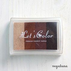 Tinta para sellos multicolor marrón