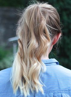 How To: The Perfect High Ponytail with on trend blonde ombre/balayage hair
