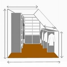 Afbeeldingsresultaat voor schuifwand inbouwkast schuine waNd