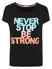 Never Stop Slogan Top