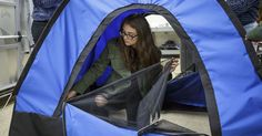 A group of teen girls learned to code, solder, sew, and 3D-print to invent a solar-powered tent for the homeless.