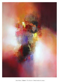 "Eelco Maan ""Charm"" 70 x 100 cm / Available at Claremont Gallery / Sevenoaks / UK  #Abstractart #modernart #contemporaryart #painting #art Abstract Styles, Abstract Art, Abstract Paintings, Painting Art, Michael Morris, Willem De Kooning, Fauvism, Medieval Art, Art Fair"