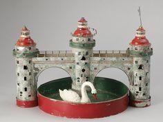 A German Fleischmann toy castle with a swan, 1920s~Image @ Bukowski's Auktioner AB