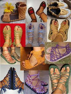 She makes the coolest sandals! I want a pair.